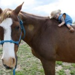 Baby on a Giant Horse